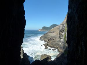 FRAMED BETWEEN THE ROCKS