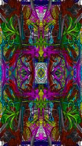 Mirrored Green Dragons Abstract
