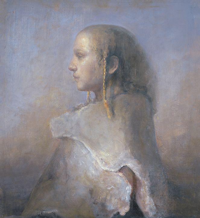 Helene in profile - Odd Nerdrum