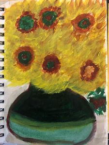 September Vase with Sunflowers