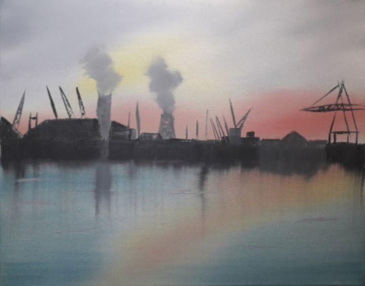 Sunrise King George Dock - Dave's Art