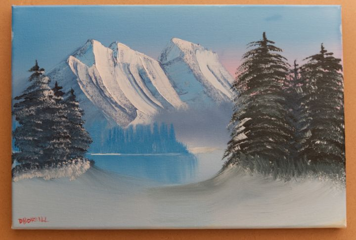 Frozen Lake - Dave's Art