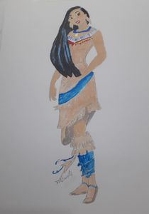 Indian Squaw - water colour