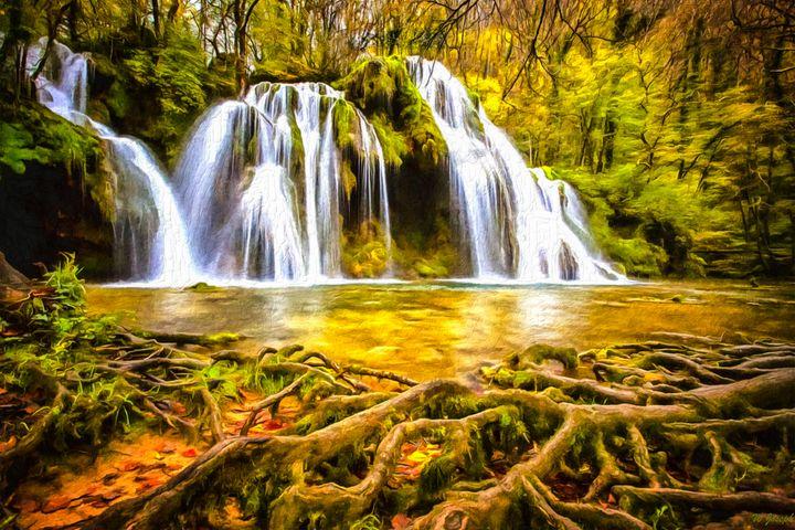 Cascade Waterfall by W Joseph - Joseph Wall Art