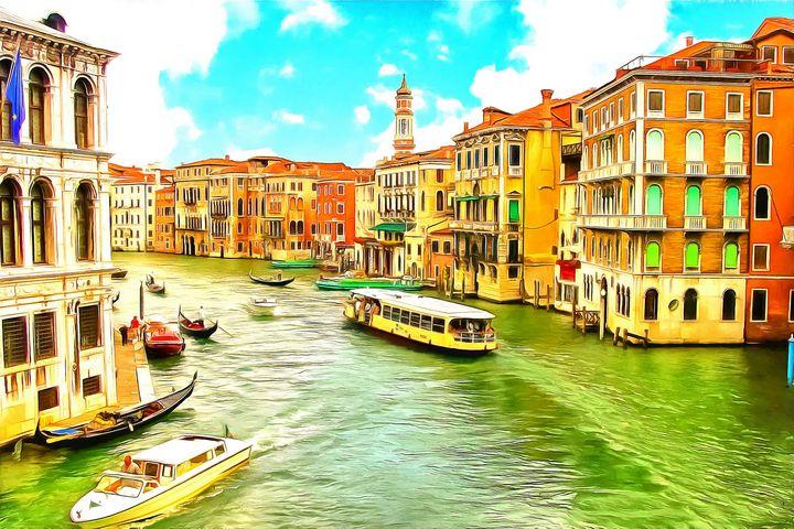 Venice Business District - Joseph Wall Art