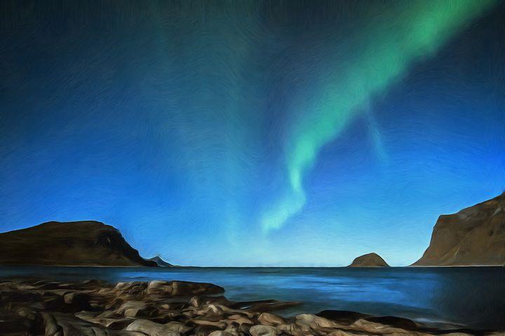 Aurora Borealis by W Joseph - Joseph Wall Art
