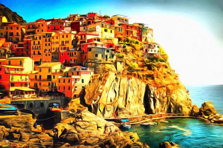 Cinque Terre II by W Joseph - Joseph Wall Art