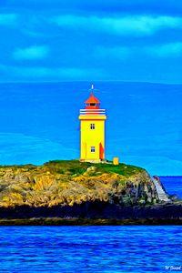 Yellow Lighthouse by W Joseph