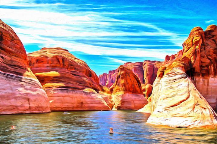 Lake Mead by W Joseph - Joseph Wall Art