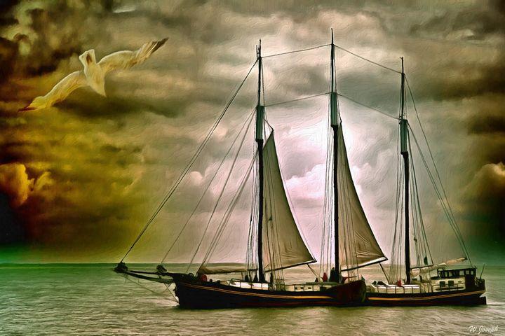 Sailing Freighter - Joseph Wall Art