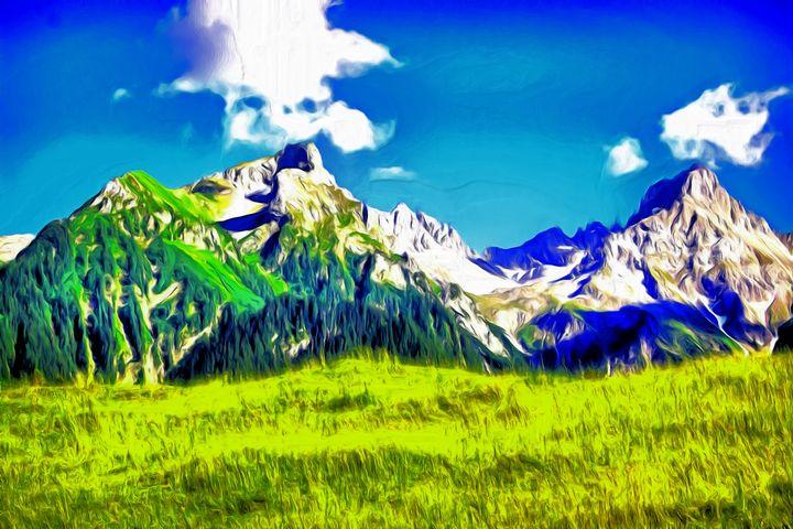 Mountain Calm by W Joseph - Joseph Wall Art