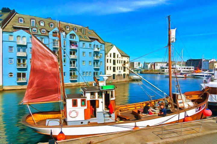 Nortic Fishing Boat by W Joseph - Joseph Wall Art