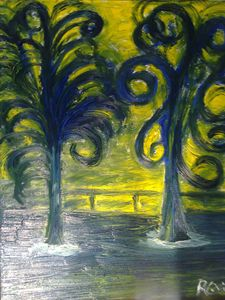 Trees/yellow and green - promenade