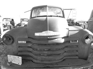 Chevy Truck Vintage Black and White