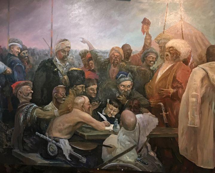 """Copy of """"Kozacks..."""" by I. E. Repin - SANREGRE GALLERY"""
