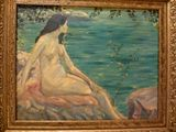 Oil painting - Woman by the basin