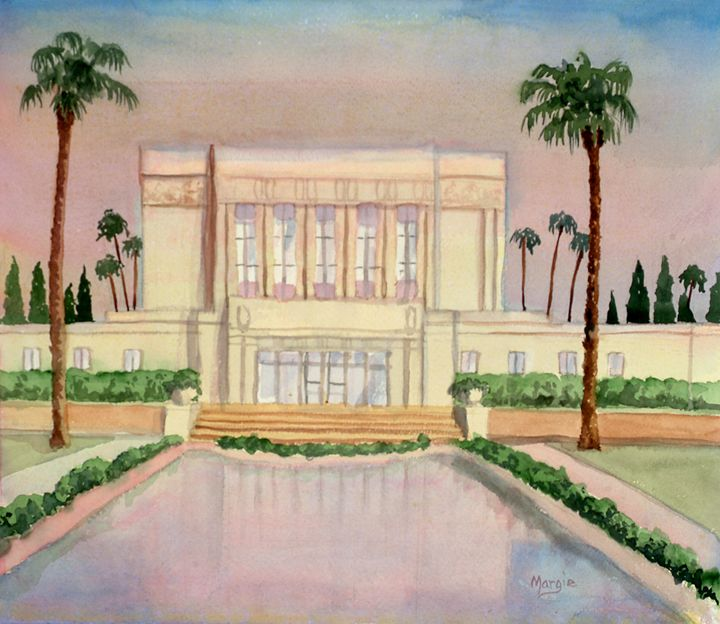 Mesa Arizona Temple - Margie's art