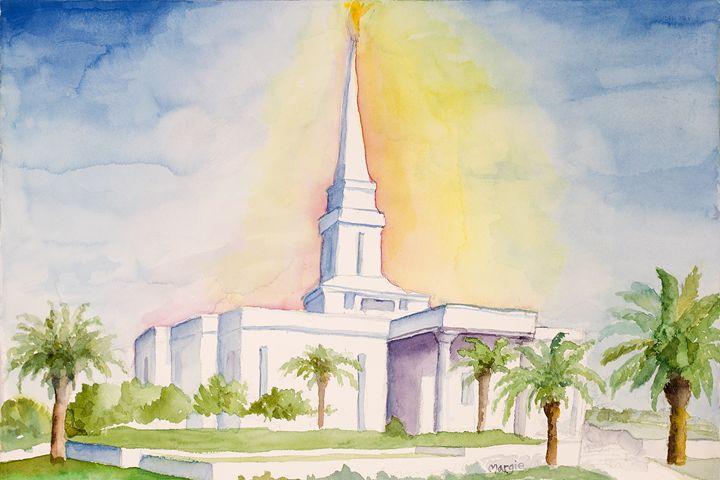 Orlando Florida Temple - Margie's art