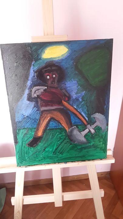 devil - oil paintings