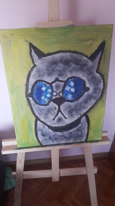 cat - oil paintings