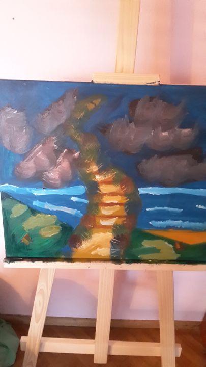 stairway - oil paintings
