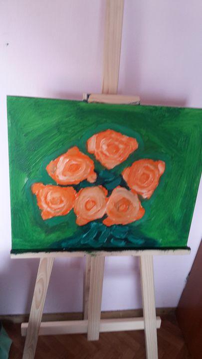 roses - oil paintings