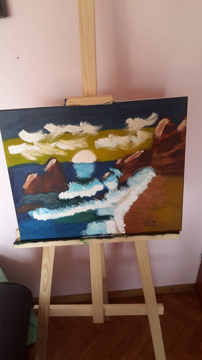 sunset - oil paintings