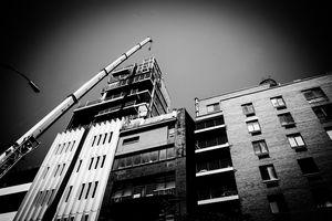 Crane With Building