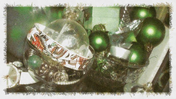 GREEN BALLS - DARIUS SIMONIS DRAWINGS PAINTINGS