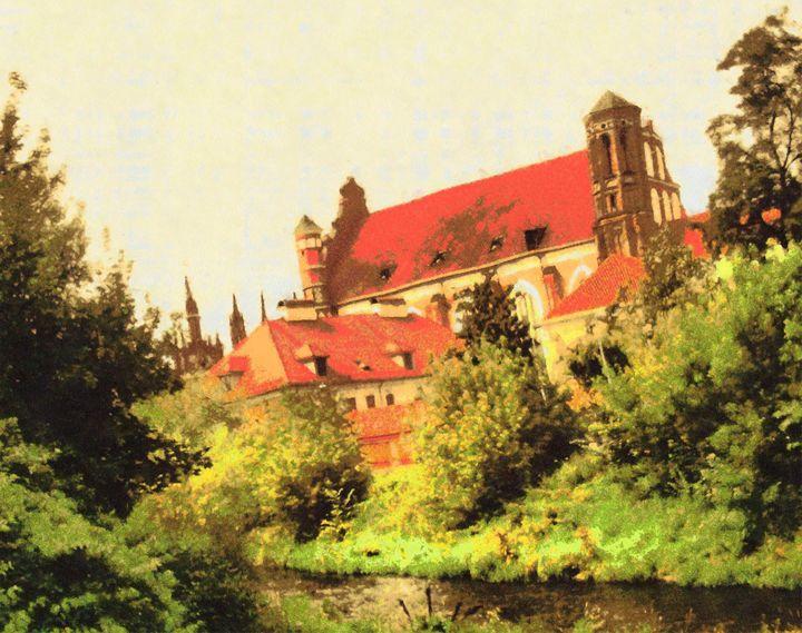 CHURCHES OF VILNIUS - DARIUS SIMONIS DRAWINGS PAINTINGS