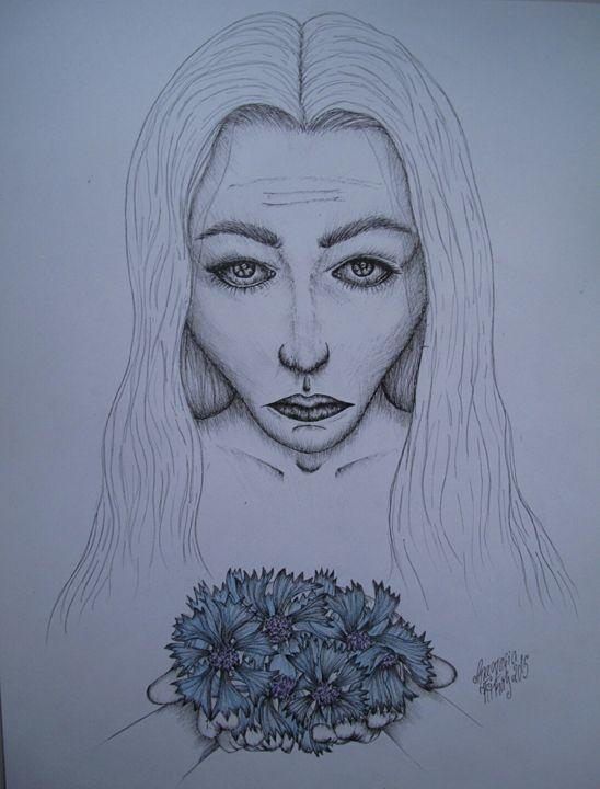 A girl with cornflowers - Anastasia KickAss