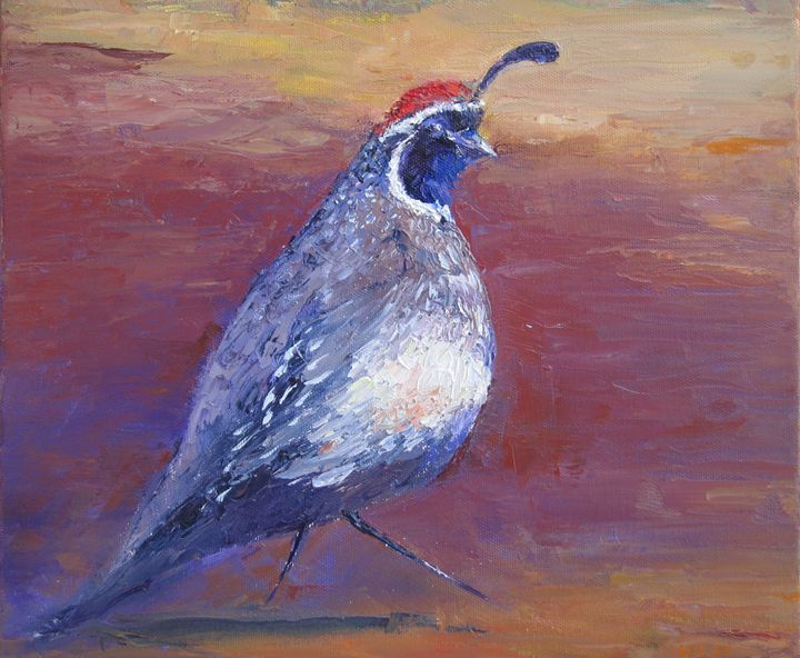 Desert Quail - Kathryn Barnes