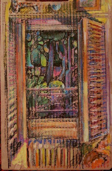 Pink Window night - Perrin Gallery