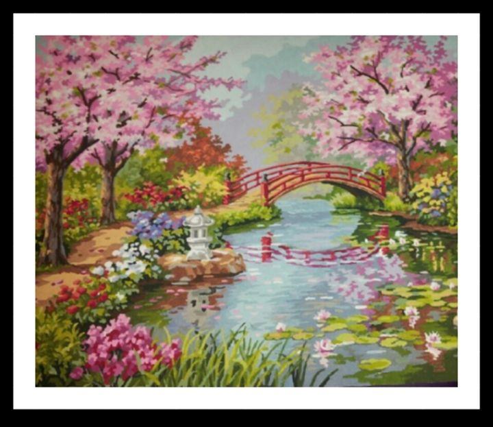 Japanese Garden - Maria's Handpainted Paintings