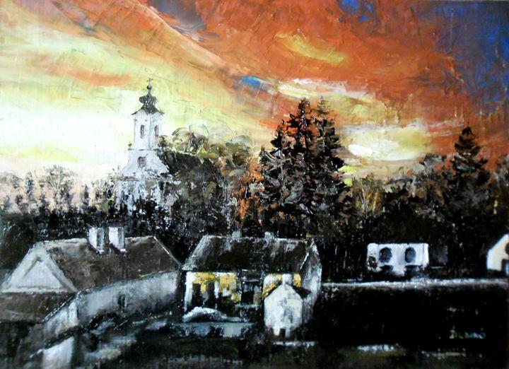Sunset in the village - Designlipe