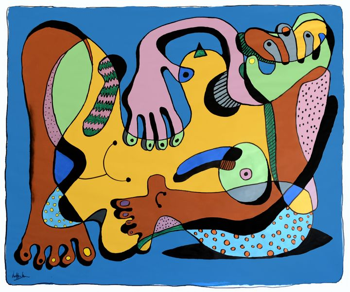Woman with Scarves (Large) - Prints by Geoff Greene