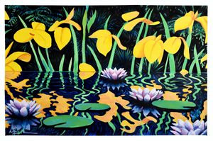 Pond With Yellow Lilies (After Katz)