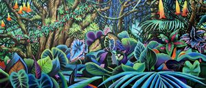 Flowering Jungle Triptych