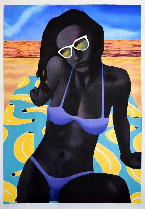 Girl in a Bikini - Prints by Geoff Greene
