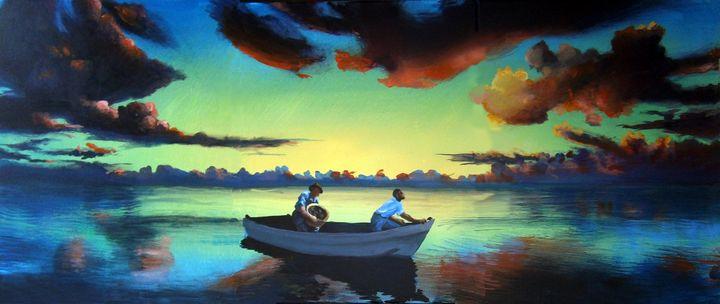 The Tom Benton Fishing Fleet - Prints by Geoff Greene
