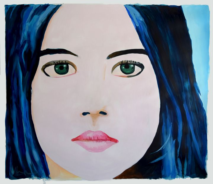 Girl with Blue Hair (Erika) - Prints by Geoff Greene