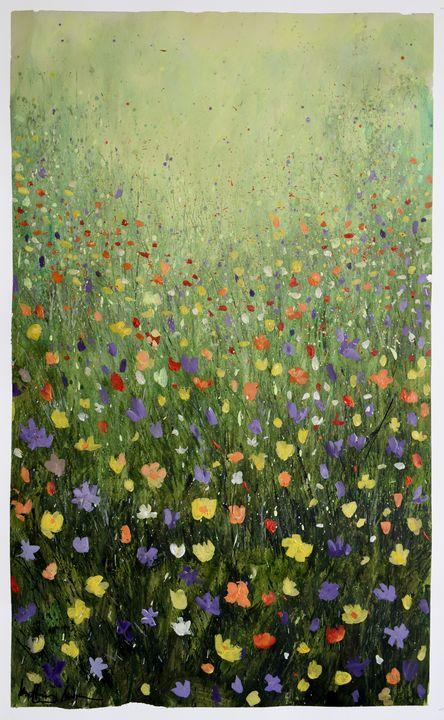Small Flower Field - Prints by Geoff Greene