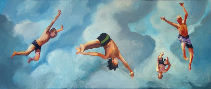 Cliff Jumpers - Prints by Geoff Greene