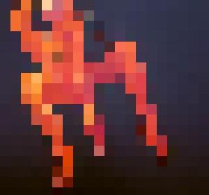 Orange Nude #1 (Triptych) - Prints by Geoff Greene