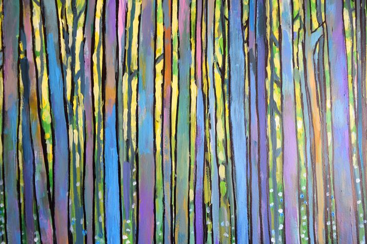 Forest At Sunset Two - Prints by Geoff Greene