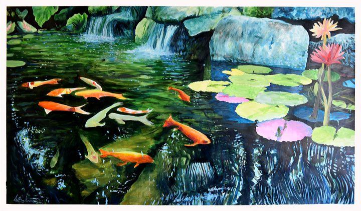 Monet's Garden (One) - Prints by Geoff Greene