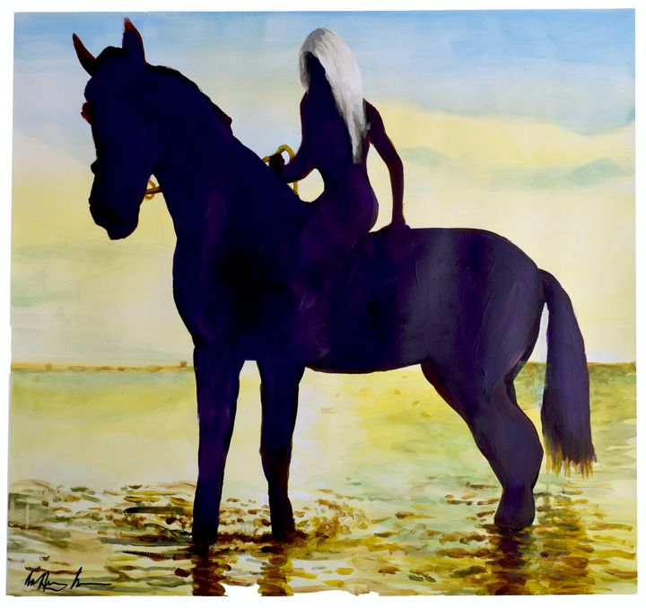 Blond on Horseback - Prints by Geoff Greene