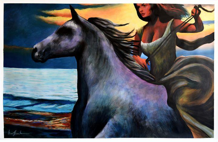 Dusk Rider - Prints by Geoff Greene