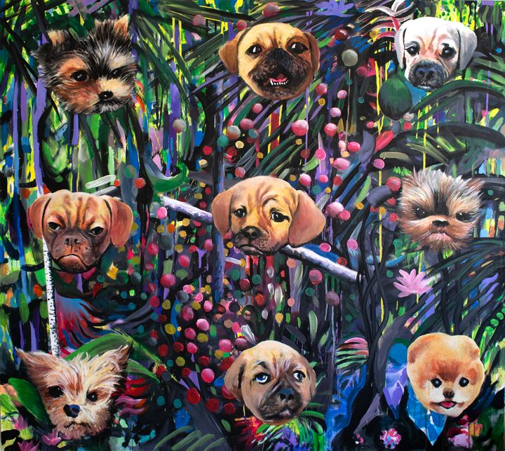 Jungle with Smush-Puppies - Prints by Geoff Greene