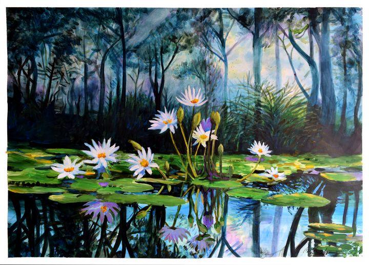 Swamp Lotus - Prints by Geoff Greene